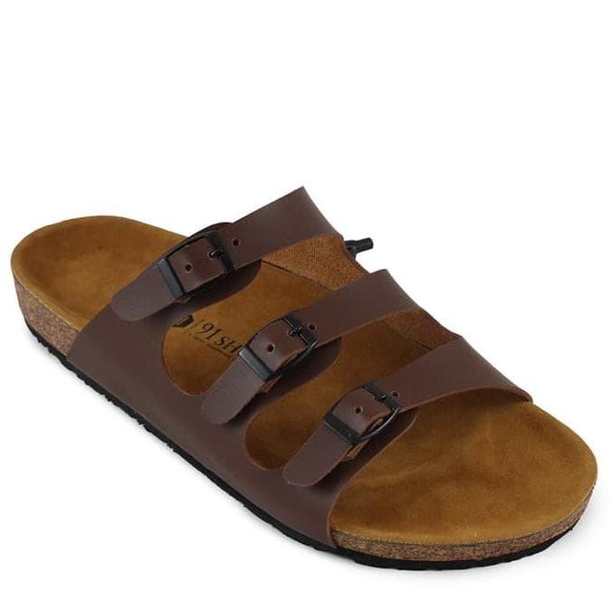 9370cb2da52 Jual Terlaris !!!! Sandal Pria Birkenstok 91 Shoes Casual Gesper 3 ...