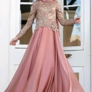 Jual Abaya Gamis Maxi Dress Gaun Pesta Muslim Brokat Satin Mewah Modern Kota Kediri Hijab Paramore Tokopedia