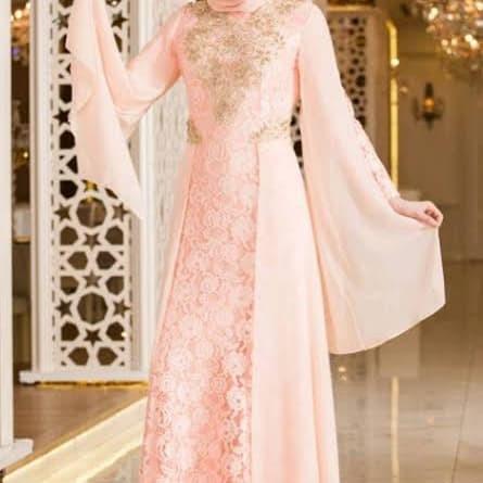 Jual Abaya Gamis Maxi Dress Gaun Pesta Muslim Brokat Ciffon Mewah Putih M Kota Kediri Hijab Paramore Tokopedia