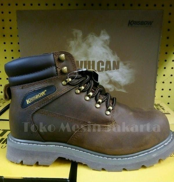 Jual Dijual Krisbow Sepatu Safety Vulcan Brown Sepatu Safety