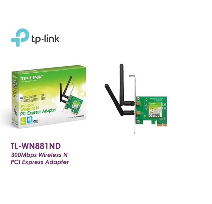 Jual TP-LINK TL-WN881ND 300Mbps Wireless N PCI-E Adapter WN881ND 881ND -  Jakarta Barat - maru maru comp | Tokopedia