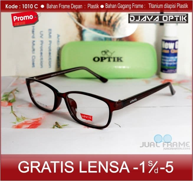 Kacamata Levis + Lensa Minus Baca Antiradiasi Frame Pria Cewek Vintage 16c9bb5b3e