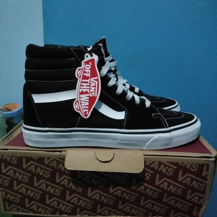 abb99d0ae3 Jual Sepatu Vans Sk8 Hi Black White Original - Sk8 Hitam putih Size ...