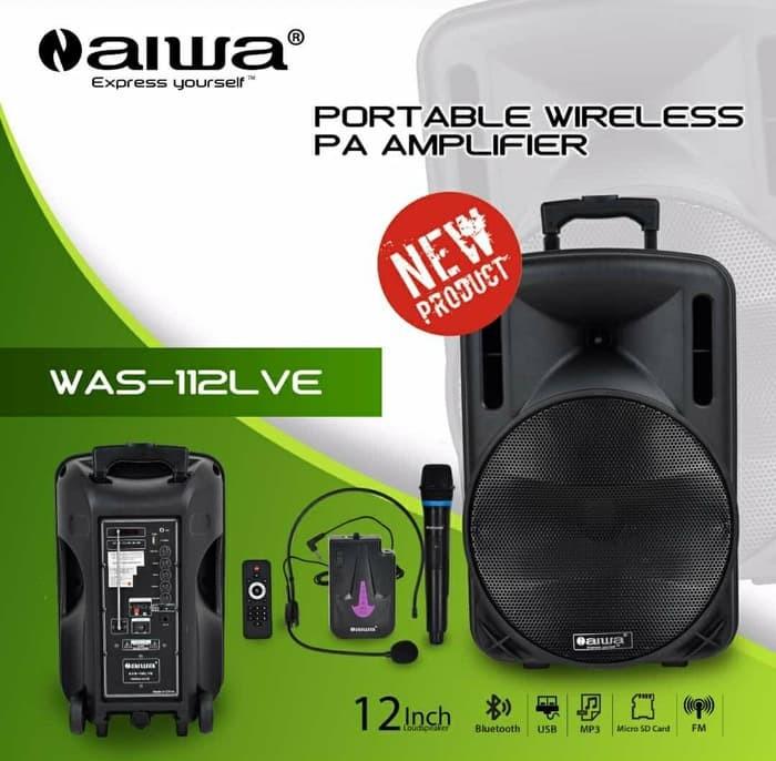 harga Speaker portable bluetooth 12 inch - aiwa was-112lve Tokopedia.com