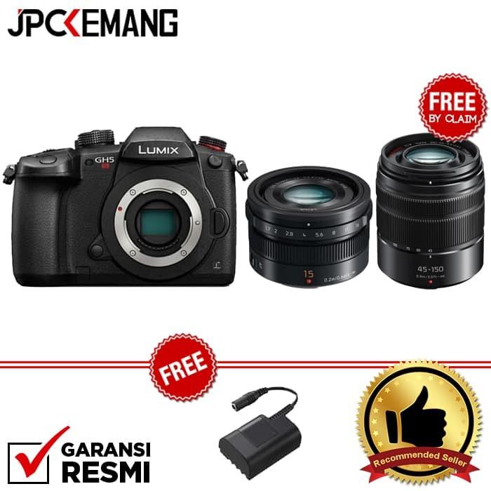 harga Panasonic lumix dc-gh5s body + panasonic leica 15mm f/1.7 Tokopedia.com