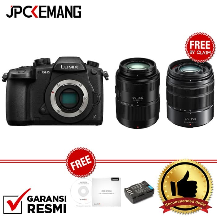 harga Panasonic lumix gh5 body + panasonic lumix g vario 45-200mm f/4-5.6 Tokopedia.com