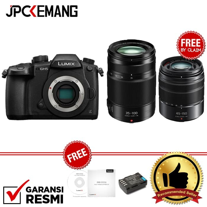 harga Panasonic lumix gh5 body + panasonic lumix g x vario 35-100mm f/2.8 ii Tokopedia.com
