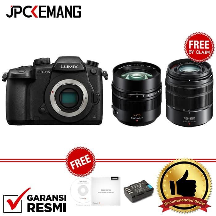 harga Panasonic lumix gh5 body + panasonic 42.5mm f/1.2 leica nocticron Tokopedia.com