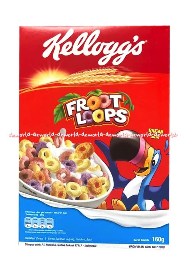 harga Kellogg's froot loops makanan sereal rasa buah cereal kellogs 160gr Tokopedia.com