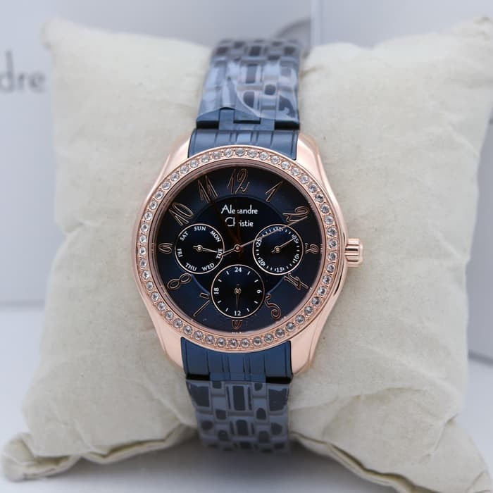 Jual Jam Tangan Wanita Alexandre Christie 2497 Rose Gold Biru ... eae0b9b362