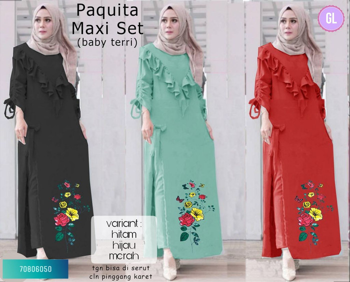 Atasan Wanita Muslim - Maxi Dress Muslimah Paquita - Dzikri Moeslim ... d8afb4a9f6