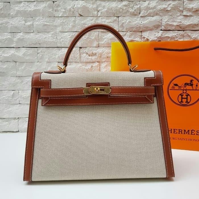 Jual Ori leather HERMES KELLY NYLON SWIFT 32 - Madam Sisca  df0621ea46