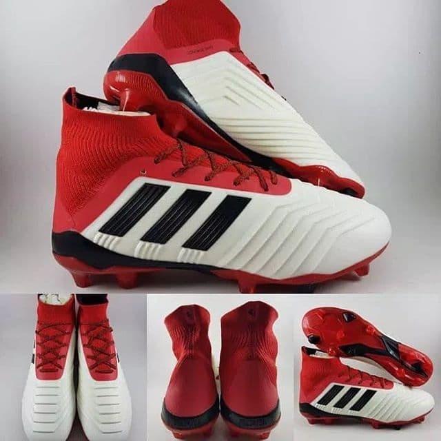 Jual Sepatu Bola Adidas Predator 18.1 FG Soccer White Black Red ... 51184a5180