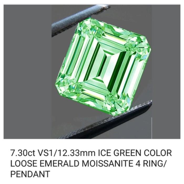 harga Green blue emerald moissanite Tokopedia.com
