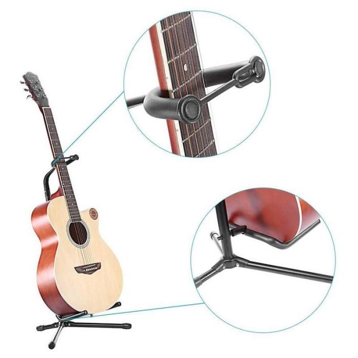 harga Stand gitar long neck hitam Tokopedia.com