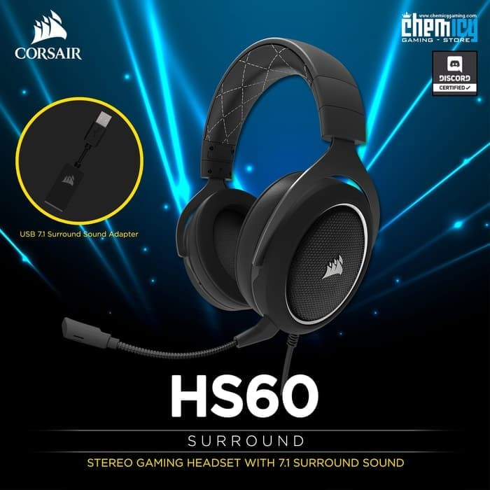 Jual Corsair HS60 7 1 Surround Sound Gaming Headset with USB DAC White -  DKI Jakarta - Barnabas | Tokopedia