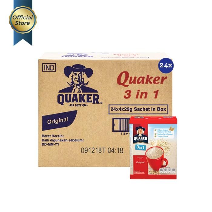 Quaker 3 in 1 original box 4s 29gr [1 carton - 24 pcs]