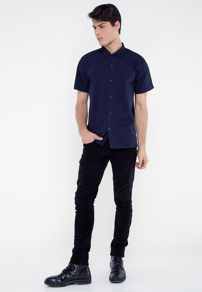 harga Famo men shirt 0110 - navy s Tokopedia.com