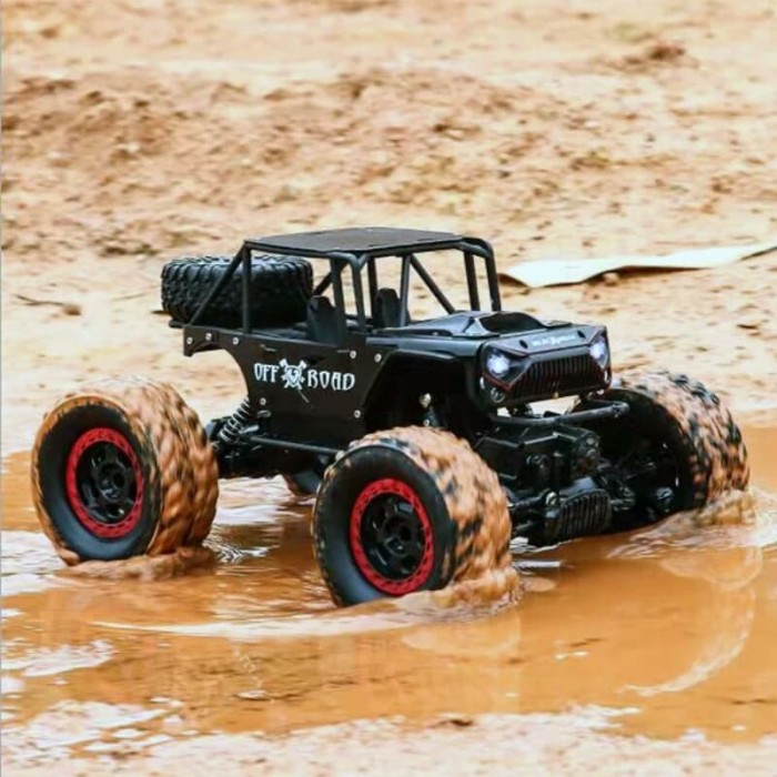 Jeep Rock Crawler >> Jual Rc Rock Crawler Jeep Alloy Skala 1 14 4wd Ban 9 5cm Headlamp Led Kota Batam First Drone Tokopedia