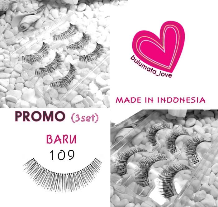 Jual Promo Baru Item Bulu Mata Love Eyelashes Type 109 3 Set