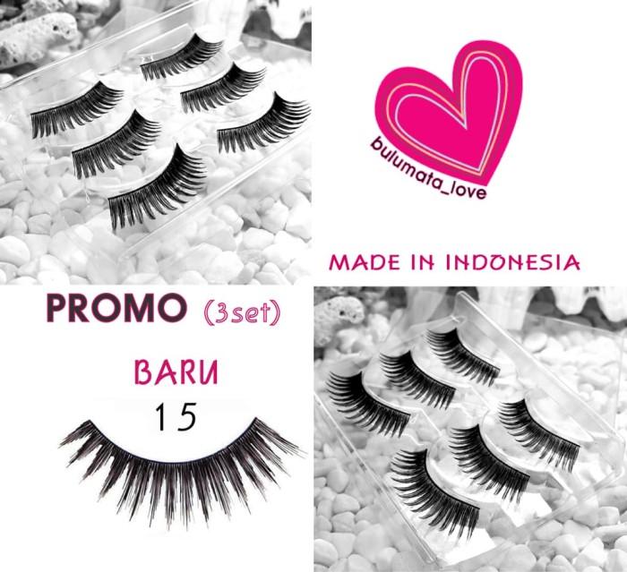 Jual Promo Baru Item Bulu Mata Love Eyelashes Type 15 3 Set