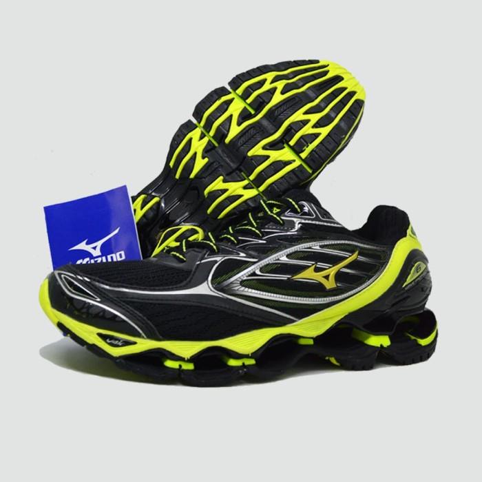 best service de114 c73b5 Sepatu Volly Mizuno Wave Prophecy 6 Warna Black Green