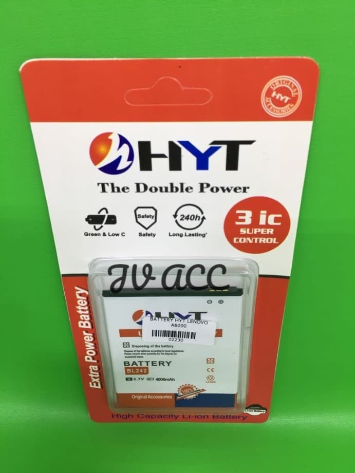 harga Battery baterai batre hyt double power lenovo a6000 bl242 a7000 bl243 Tokopedia.com