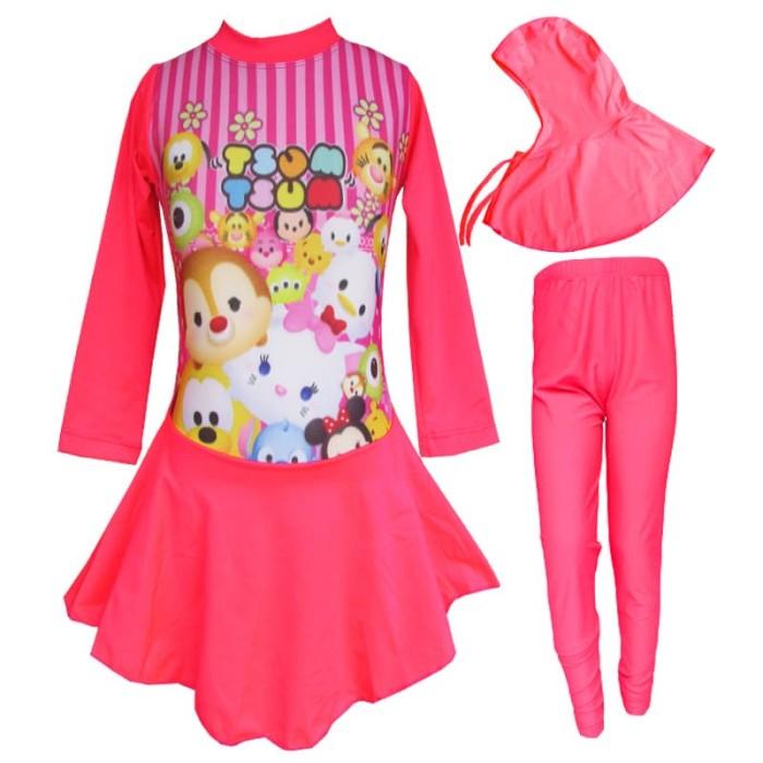 Baju Renang Anak Muslim Karakter Tsum - Tsum Bram - K178tk
