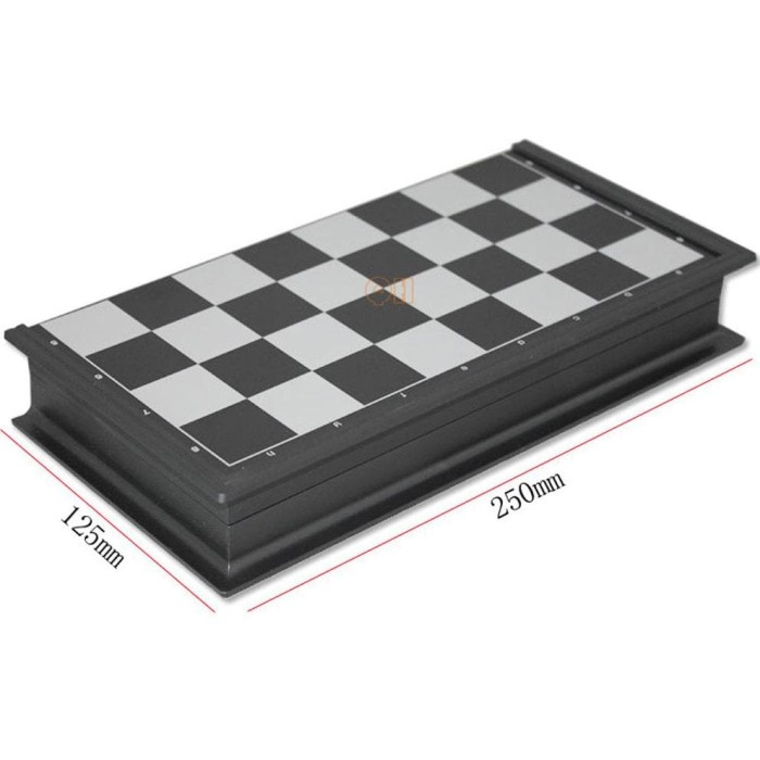 Permainan Papan Catur Magnet Dan Checker 2 In 1 Folding Chessboard