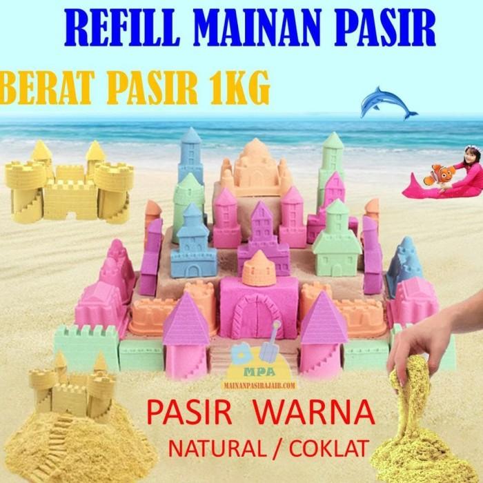 Super - Refill Pasir Ajaib Play Sand Model Sand Magic Sand Melatih
