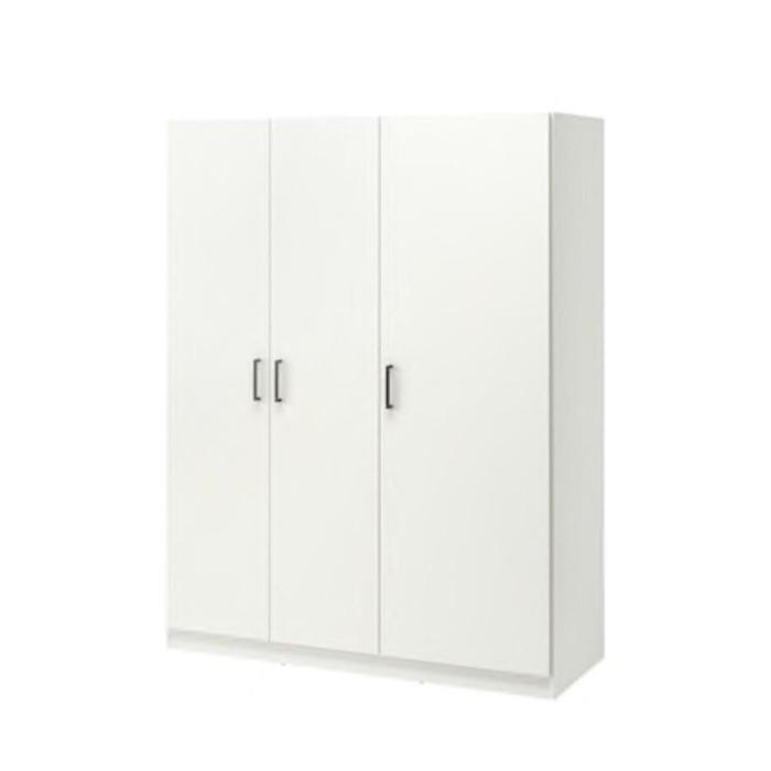 Jual Ikea Dombas Lemari Pakaian Putih 140x181cm Murah Dki Jakarta