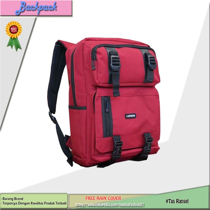 Backpak Tas Ransel Laptop CARBONI MA00090 RED decdd1d763