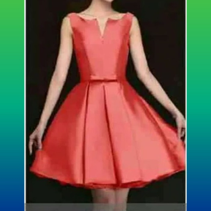 Jual Dress Anak Remaja Tanggung 12 20thn Maxy Sabrina Red Rok Dres