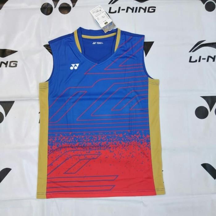 Baju kaos singlet badminton import yonex benhur merah