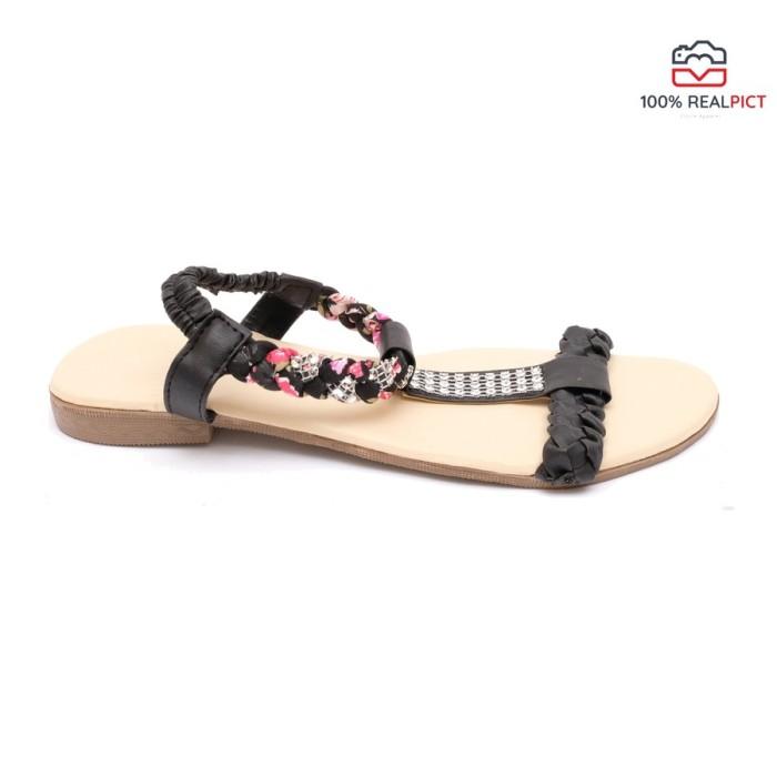 PROMO Circle Apparel Sendal Kepang - Hitam Flip Flop & Sandals MURAH