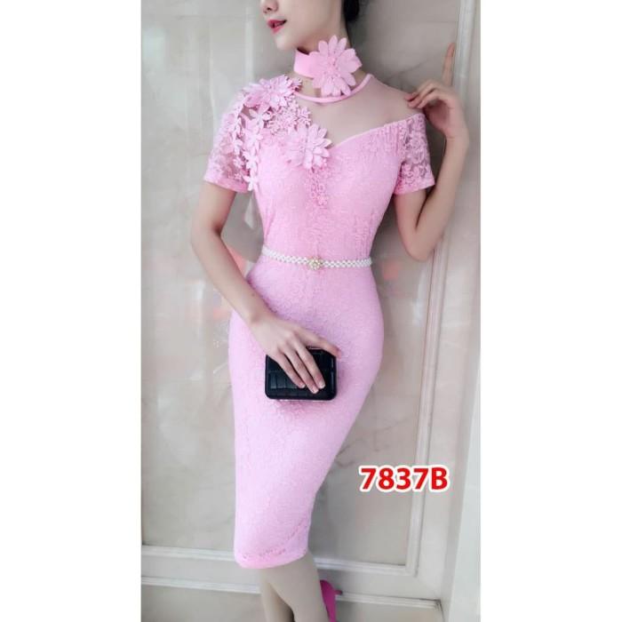 Jual Midi Dress 7837B   Baju Pesta   Baju Import  Baju Brokat   Gaun ... e356b3415a