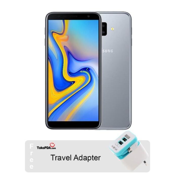Samsung galaxy j6 plus 64 gb / 4 gb garansi resmi samsung indonesia - abu-abu muda