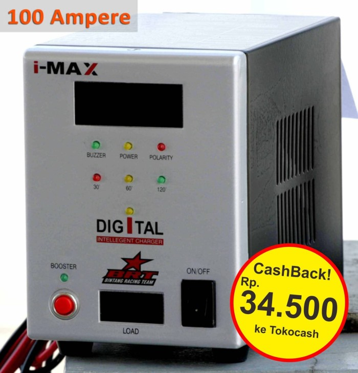 harga [original] imax battery charger digital / cas aki brt mobil jumbo 100a Tokopedia.com
