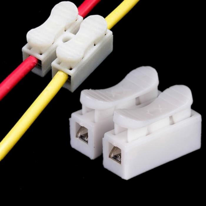 Foto Produk Penyambung Kabel Jepit LED Strip /Kabel Quick Clamp Spring Connector dari JJELEKTRIK