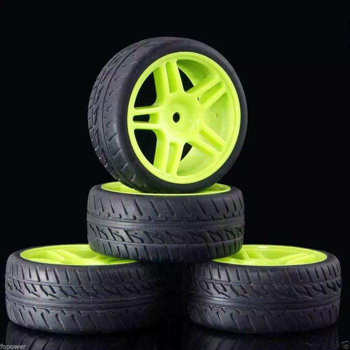 harga 1pcs ban & velg onroad rally hex 12mm rc 1/10 1/18 1/8 hsp wltoys xlh Tokopedia.com