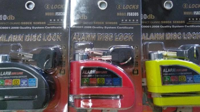 Kunci Gembok Pengaman Anti Maling Cakram Alarm Sepeda Motor Disc Lock