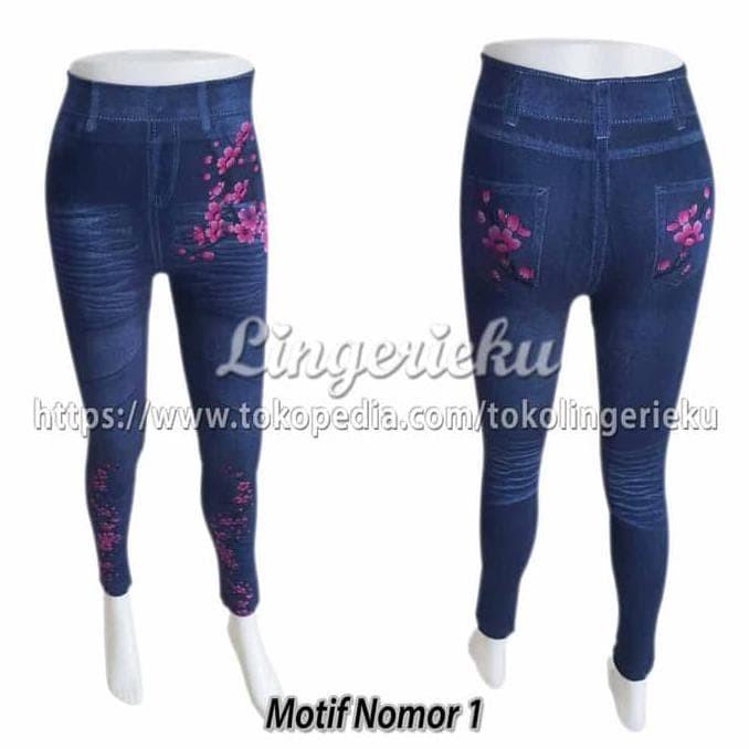 Jual Celana Legging Sorex Model Terbaru Motif Jeans 2966 Dijamin Murah Kota Medan Veranita Fashion Tokopedia