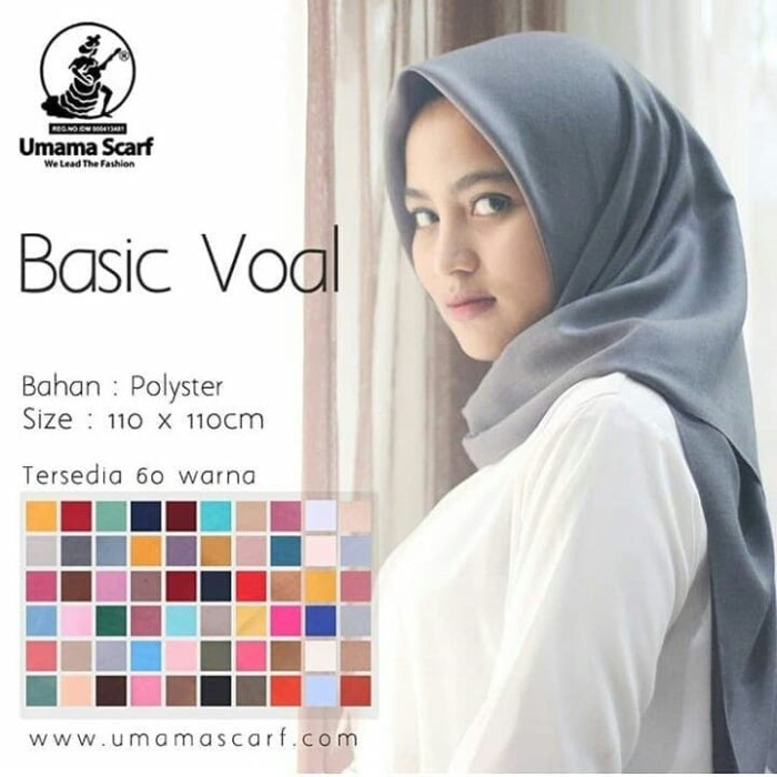 Hijab Bahan Voal Polos 8