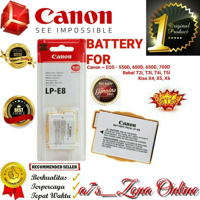 Jual Baterai/Battery Canon LP-E8 Original Canon SLR EOS 550D-600D-650D-700D  - Jakarta Timur - a7s_Zona Online | Tokopedia