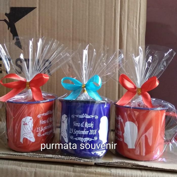 Foto Produk Enamel/souvenir vintage/souvenir murah/souvenir Jakarta/cangkir jadul dari purmata souvenir