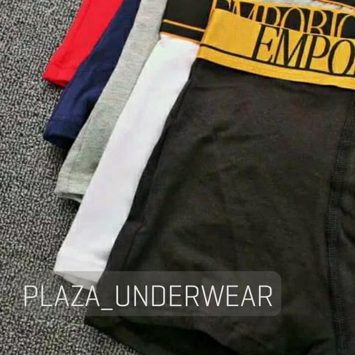 Jual 3 Pcs Boxer Trunk Gold Men EA Armani - Plaza Underwear  8774d32887