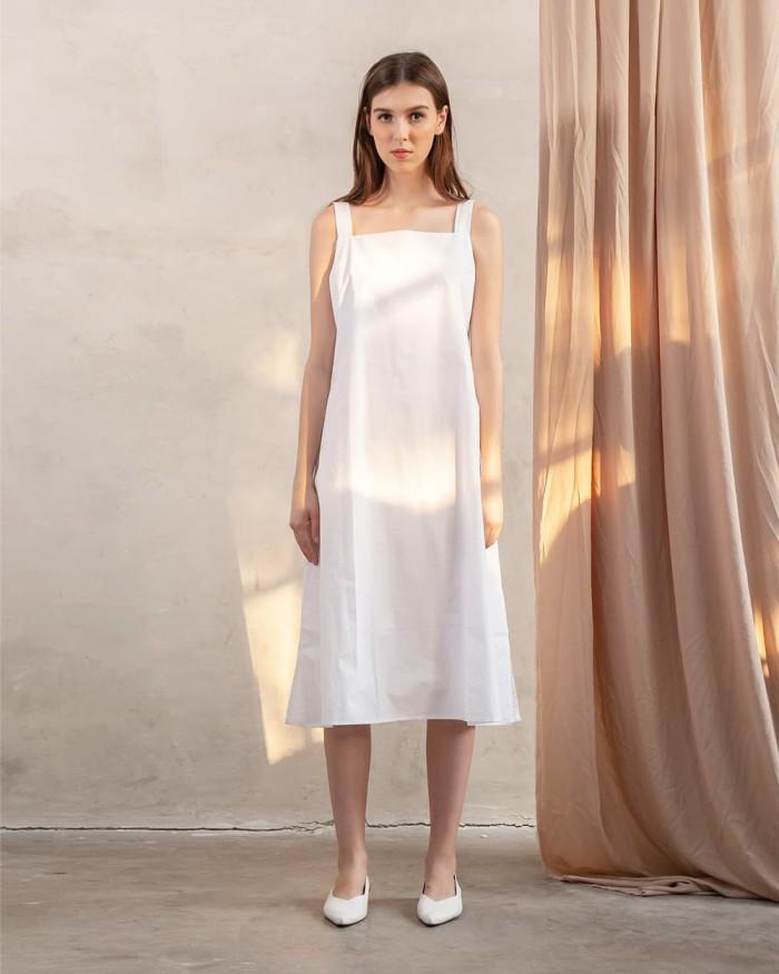 harga This is april - inez dress white - 630076 Tokopedia.com