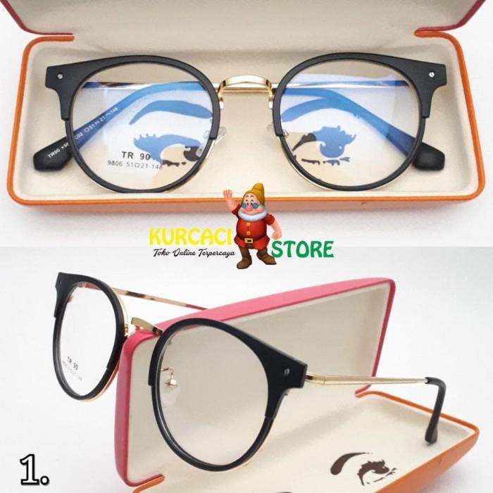 Jual NUR RAHMA01 Frame Kacamata Retro Bulat Britanny Fashion Branded ... 93929b2ce3