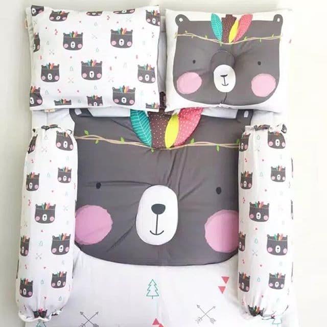 Bedcover set Indian Bear