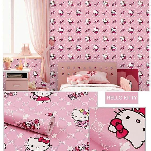 Jual Wallpaper Dinding Hello Kitty Sayap Jakarta Barat Kamtel Tokopedia